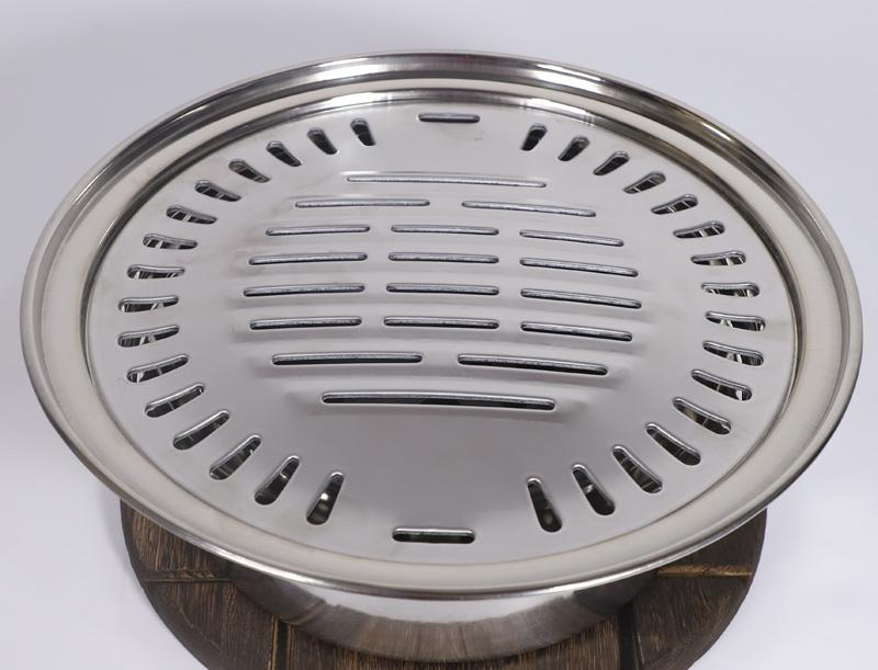 烤肉盘商用家用户外炭韩式无烟炭烤炉烧烤炉火圆形烤肉架烧烤架