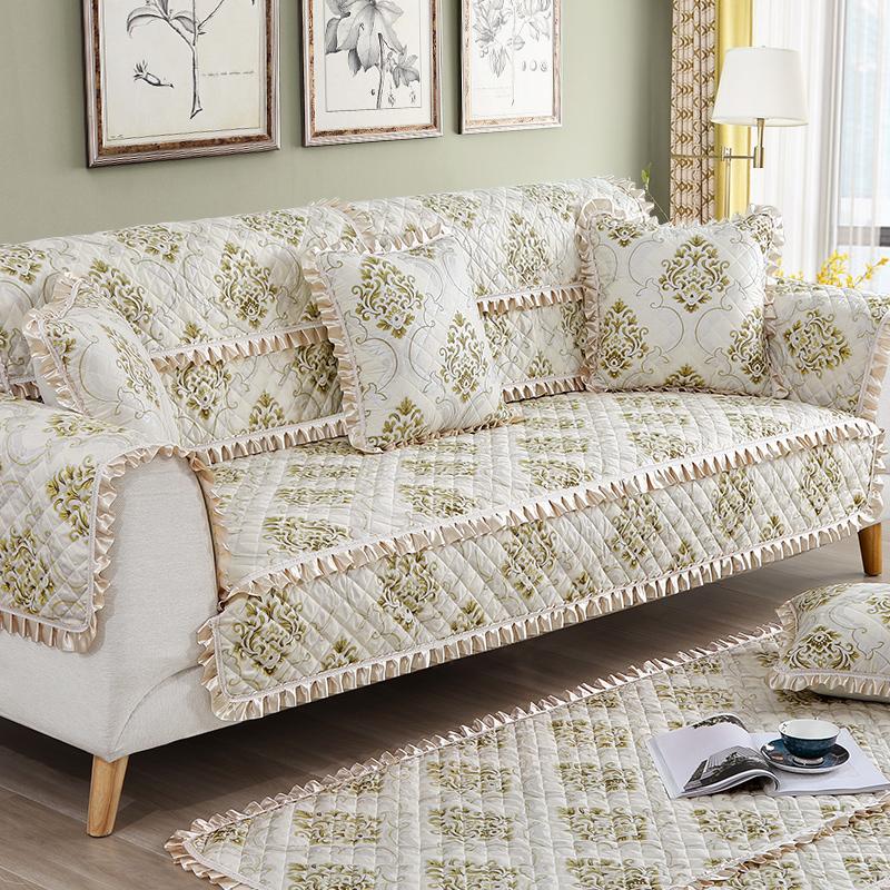 欧式沙发垫全包万能套罩巾全盖四季通用一套简约现代布艺坐垫防滑