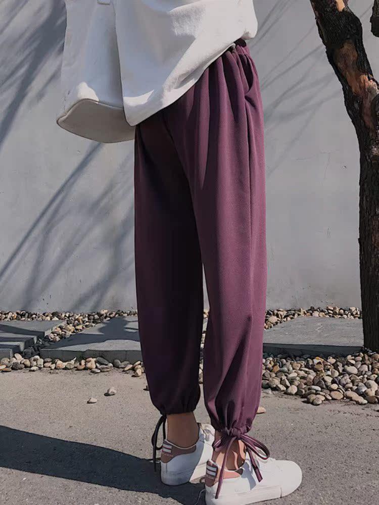 热销0件正品保证阔腿裤女夏有口袋 雪纺垂感薄款萝卜大码胖mm九分夏季灯笼裤潮