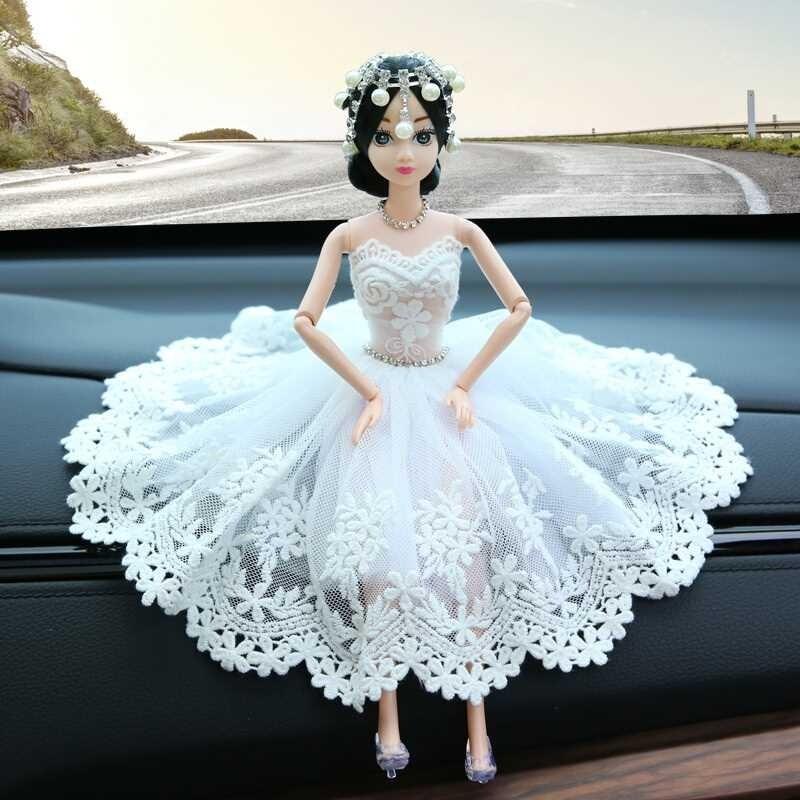 汽车摆件漂亮婚纱公主娃娃车载小车上可爱车内装饰品摆件女士