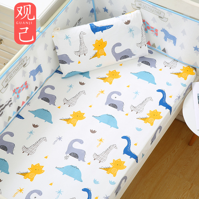 Baby bed cover pure cotton a type bedding baby bedspread cover children summer thin baby bed sheets ins custom