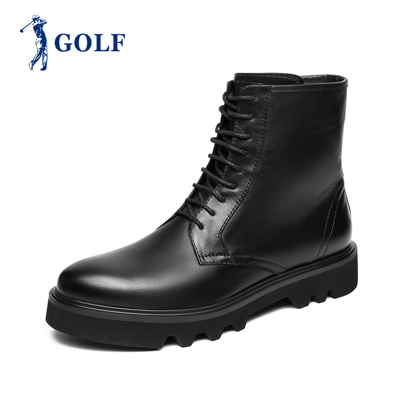 Golf outlets high top Martin boots mens trend England versatile mens high top boots real leather boots