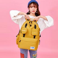 书包女大学生中学生韩版高中初中生双肩包大容量简约电脑旅行背包
