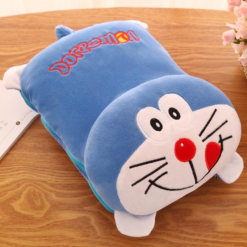 空调抱枕带毛毯暖手两用龙猫二合一多功能被子枕头毛绒布艺类玩具,可领取1元天猫优惠券