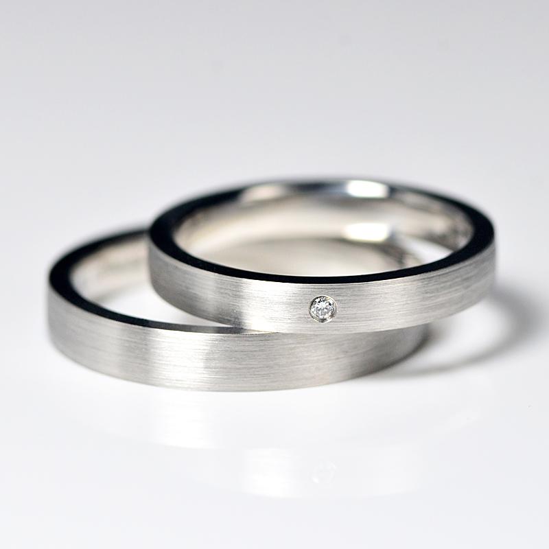 Pt 950プラチナリングカップルのオリジナルデザイン結婚指輪ペアリング男女直角リング
