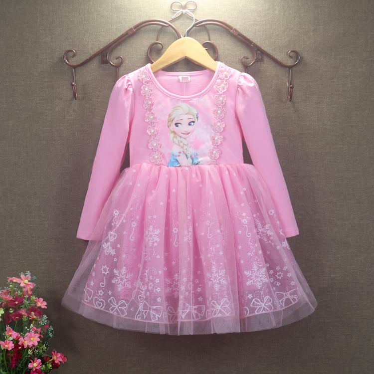 女童冰雪奇缘公主裙儿童艾莎连衣裙秋装新款洋气爱莎裙万圣节服装