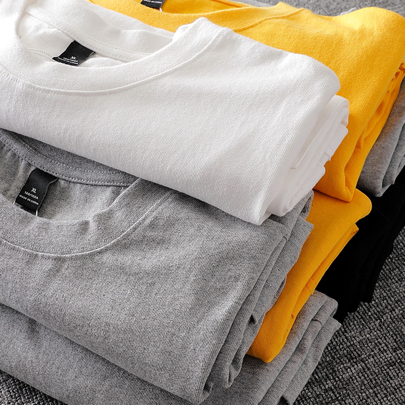 280g heavyweight carbon matted cotton pocket T-shirt slit at front and back
