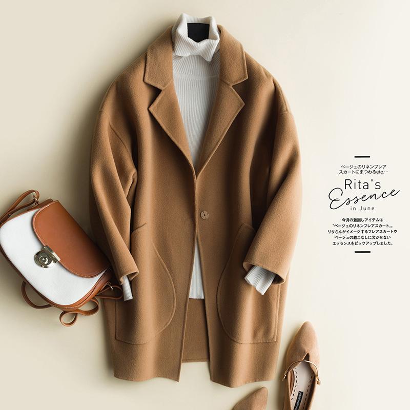 2020新款双面尼羊毛大衣女中长款韩版无羊绒秋季高端呢子毛呢外套