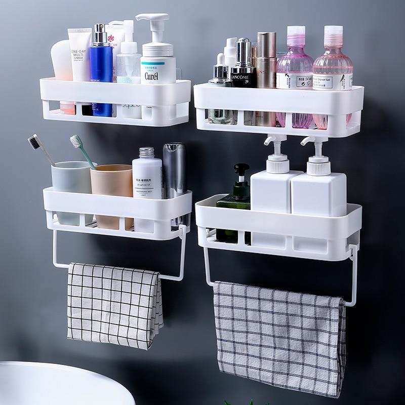 厨房神器粘墙置物架放牙刷杯吸墙多层无痕卫浴塑料吸盘式化妆品用,可领取1元天猫优惠券