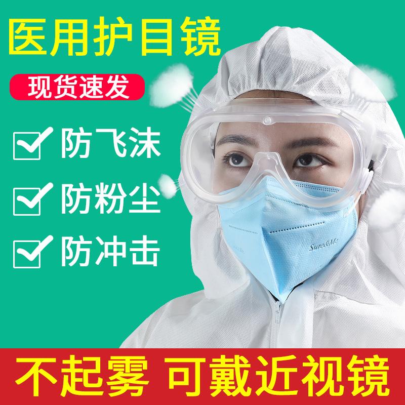 医療用保護眼鏡平光鏡医療用ウイルス対策眼帯隔離カバー保護メガネ防霧全閉塞医療服
