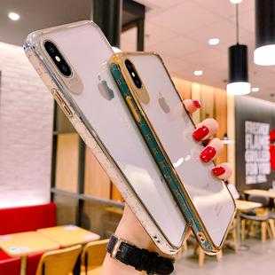 奢华简约苹果x手机壳透明冷淡风iPhoneXR软硅胶保护套xsmax防摔网红女款xs全包潮牌x创意xr欧美时尚超薄外壳品牌