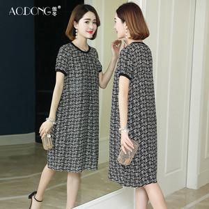 新款正宗杭州连衣裙中长款丝绸裙子