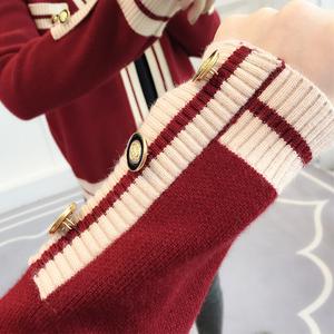 女士针织开衫春装2021年新款女装潮宽松外穿春季百搭爆款毛衣外套