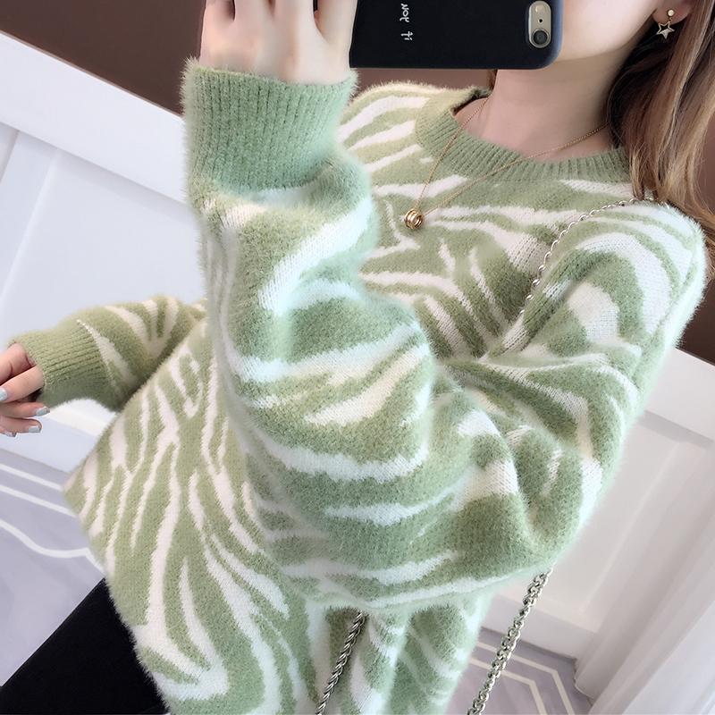 女士爆款毛衣2020年新款女装宽松外穿慵懒风冬季加厚水貂绒雪尼尔