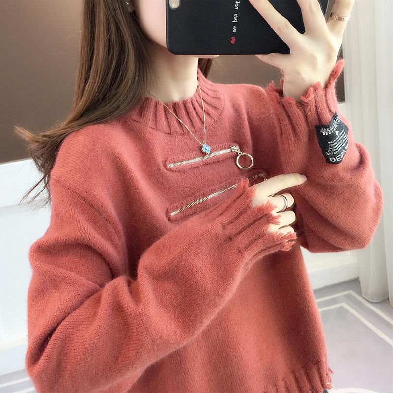 女士毛衣2020年新款女装套头日系宽松外穿慵懒风冬季加厚爆款上衣