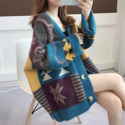 针织衫开衫女士毛衣2020年新款女装宽松外穿秋冬百搭加厚上衣外套