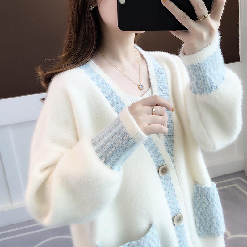 针织开衫女士毛衣秋装2020年新款女装早秋季宽松外穿上衣春秋外套