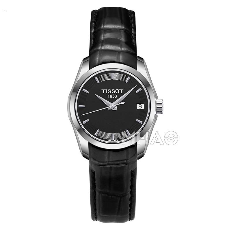 香港直邮瑞士天梭库图系列皮带手表石英女表T035.210.16.051.00