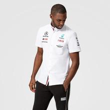 2021新款f1赛车服梅赛德斯GP短袖男装衬衫定制奔驰汽车俱乐部衬衣