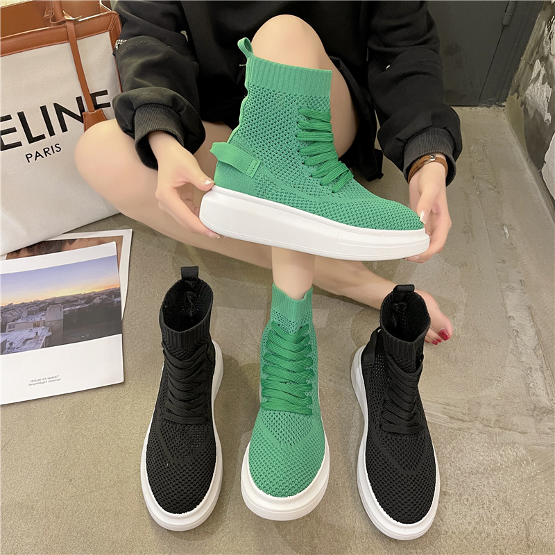 Socks shoes womens summer thin high top shoes