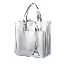 Non woven environmental protection bag folding out portable leisure handbag fashion simple waterproof shopping bag large capacity female