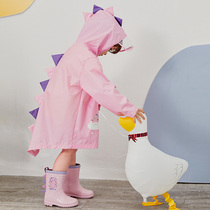 儿童雨衣女童2岁3幼儿园女宝宝斗篷式4男童雨披5恐龙雨具夏季套装