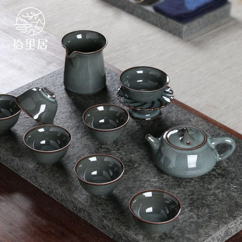 拾里居謝明東作品龍泉青磁鉄胎高級功夫茶器セット急須陶磁器家庭用プレゼント