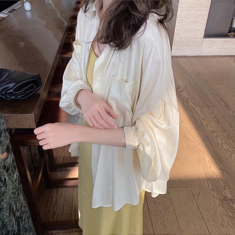 防晒衣女长袖夏季新款超仙洋气百搭韩版宽松薄款衬衣外搭开衫外套