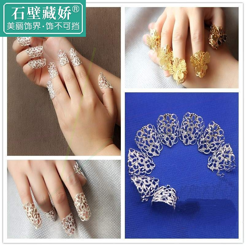 Thumb court set false nail armor female ring ring bridal accessories manicure