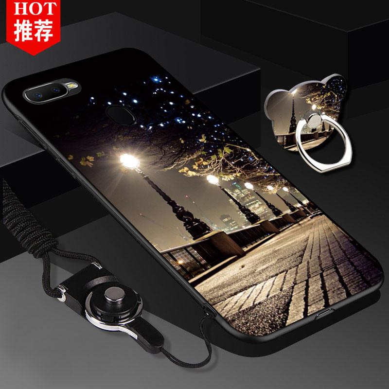 满7.90元可用1元优惠券oppoA7X手机壳oppo A7X手机套卡通支架oppa全包边opopr软壳男