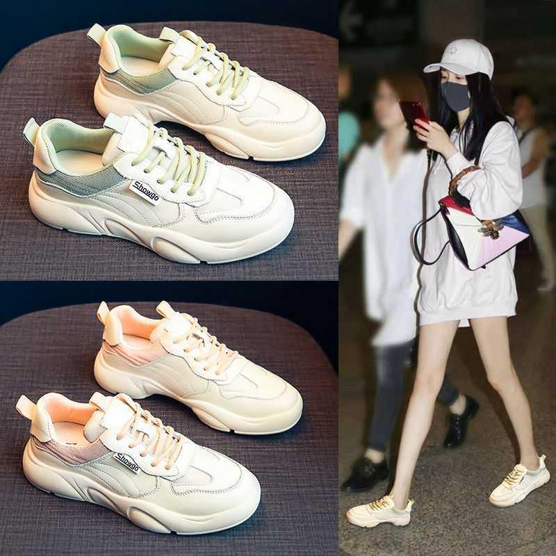 老爹鞋女2020春季新款小白鞋女休闲跑步学生板鞋防滑健身运动女鞋