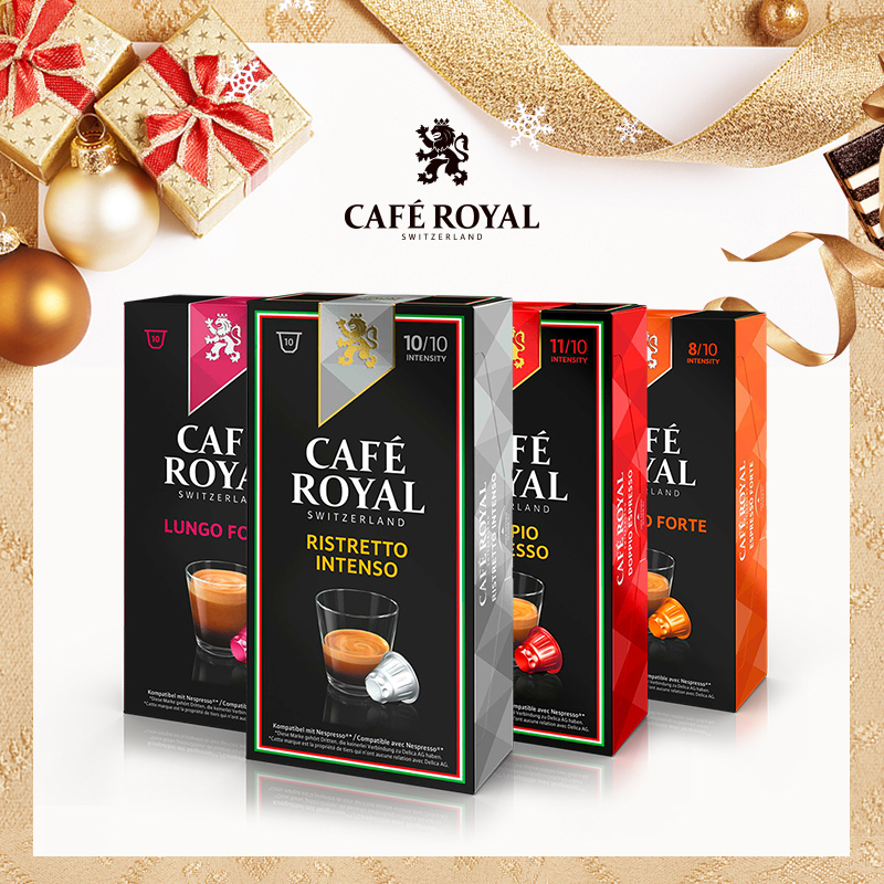 Caferoyal Ruiyao, imported from Switzerland, 40 capsules of caffeinol, compatible with Nespresso Nestle machine