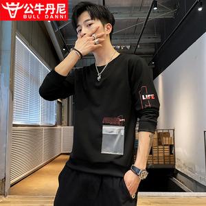 BULL DANNI/公牛丹尼长袖t恤男士潮流秋季体恤卫衣男秋装上衣服