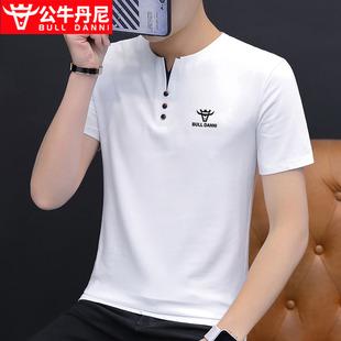BULL DANNI/公牛丹尼夏季潮流冰丝翻领男装体恤POLO衫短袖男T恤