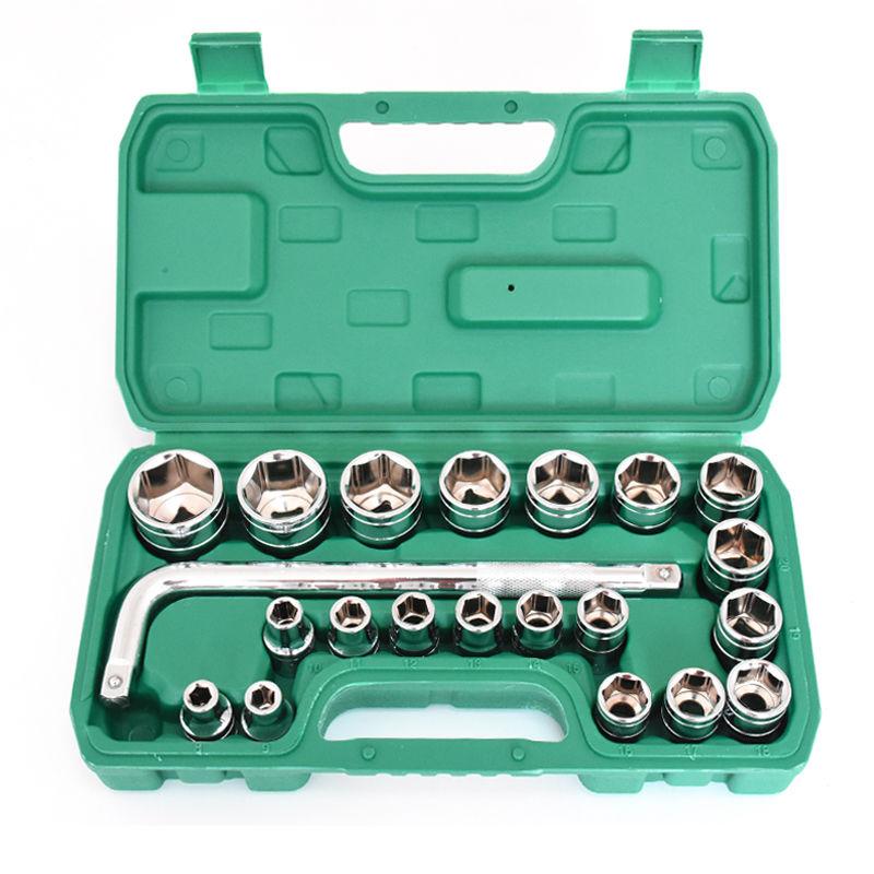 。多功能套筒扳手套装随车家用工具箱套装汽修修车套筒组合工具。
