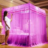 通用蚊帐家用1.8米单双人加密公主风1.5米宫廷三开门帐子1.0 四季