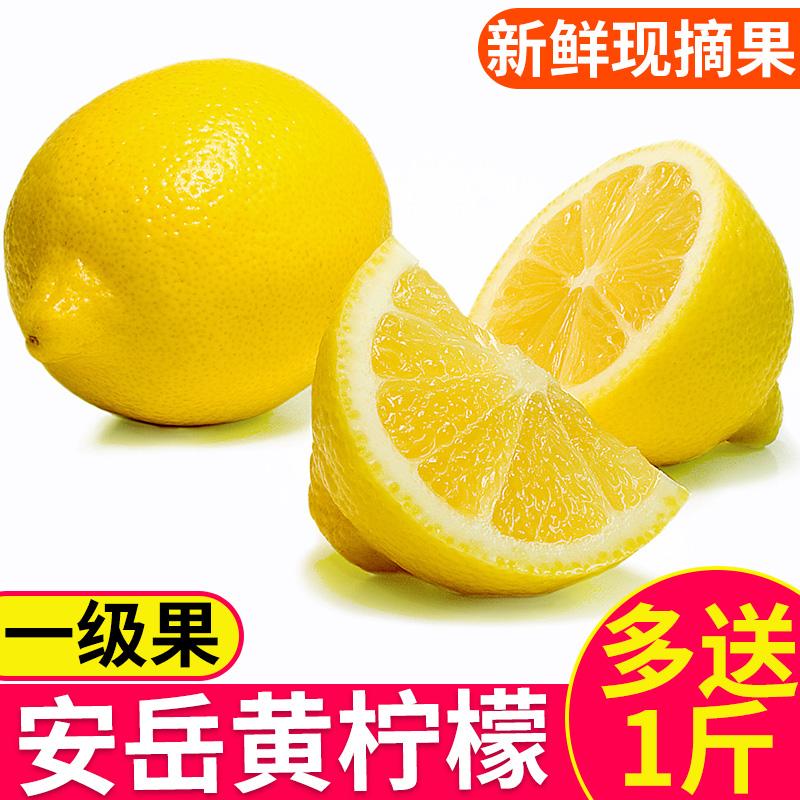热销23件假一赔三四川安岳黄柠檬5斤一级果新鲜包邮