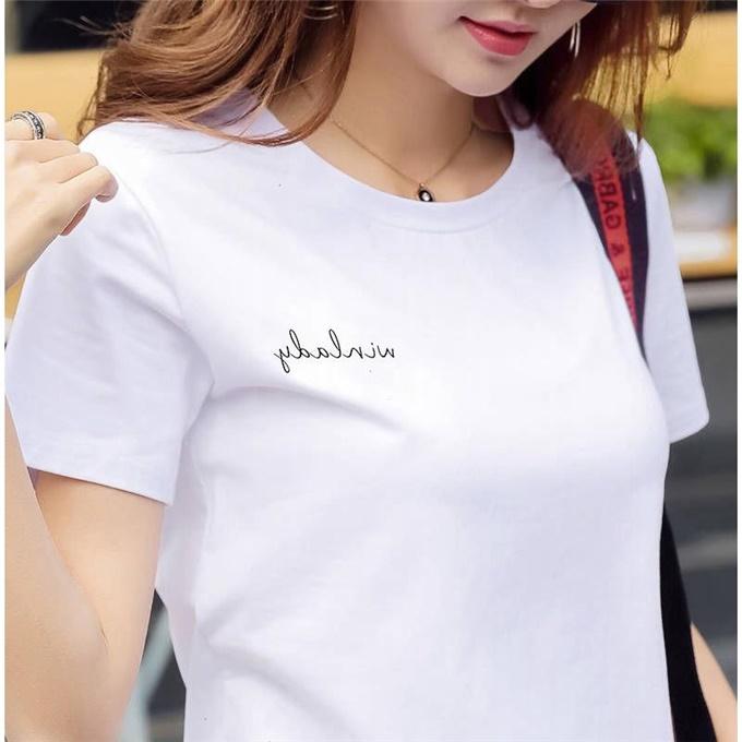高品质95棉纯白色棉t恤女短袖棉宽松百搭半袖休闲大码