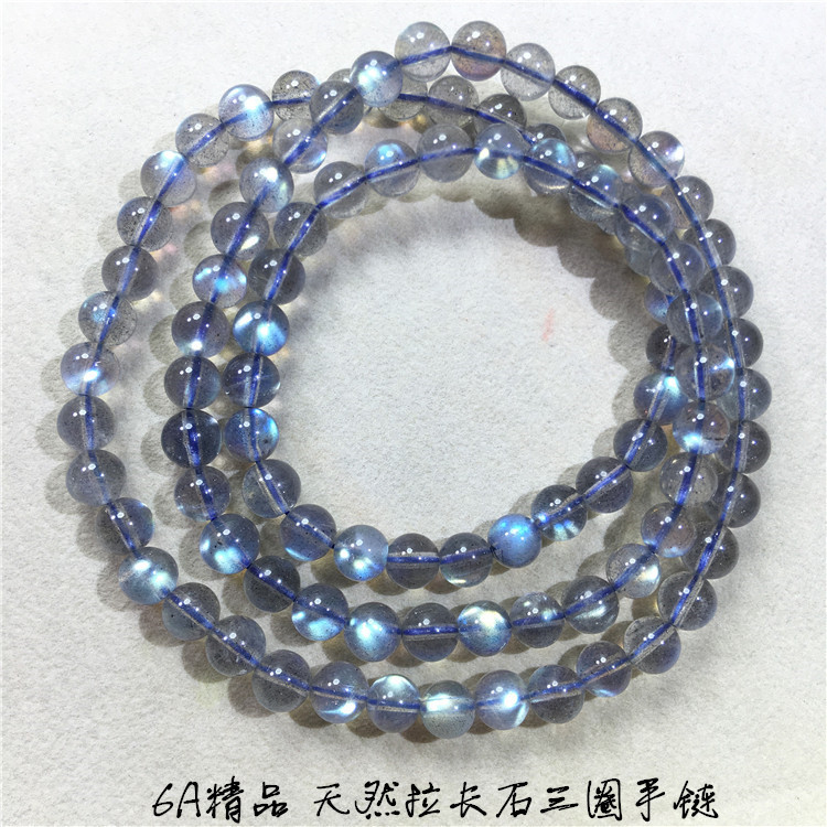 Hot selling 6A boutique natural elongated stone three Circle Bracelet with strong color light