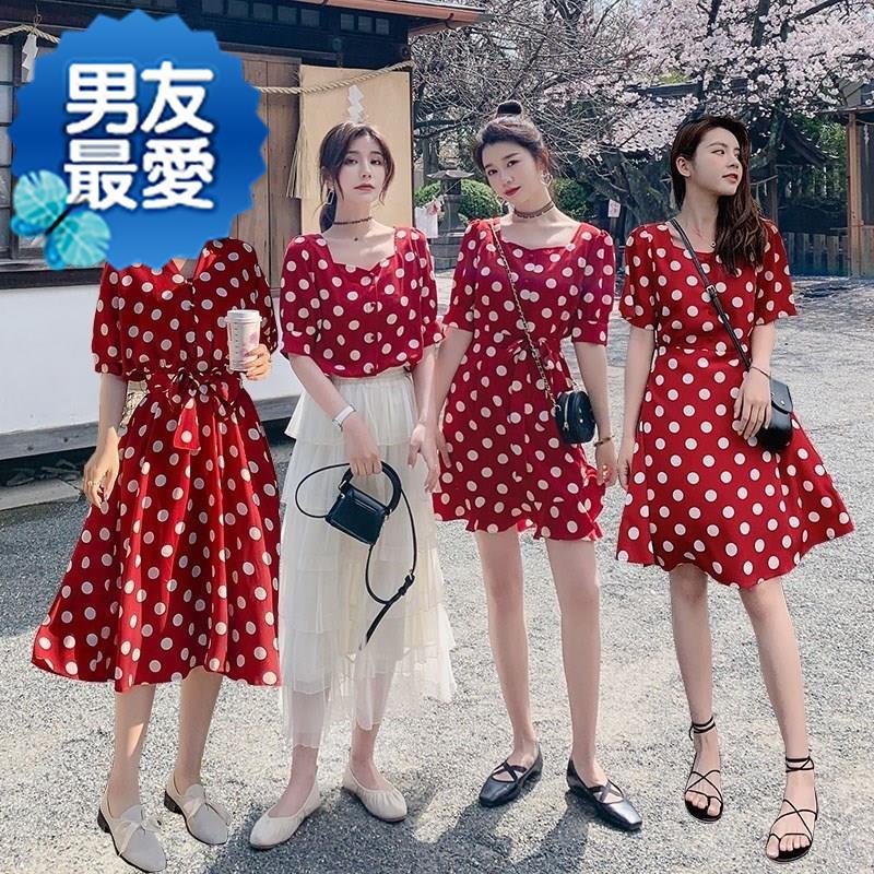 限10000张券四人女生女n学生过膝夏装裙韩版裙子姐妹装夏装潮闺蜜套装套装裙