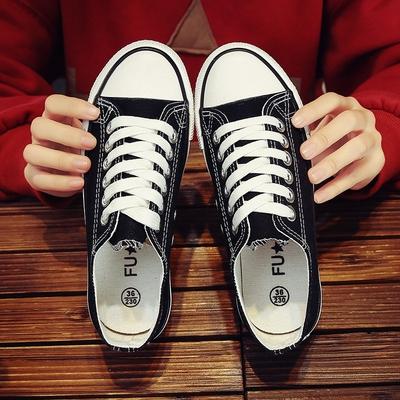 莫瑞图2020夏季潮鞋防滑厚底低跟平底女鞋帆布板鞋低帮鞋运动韩版