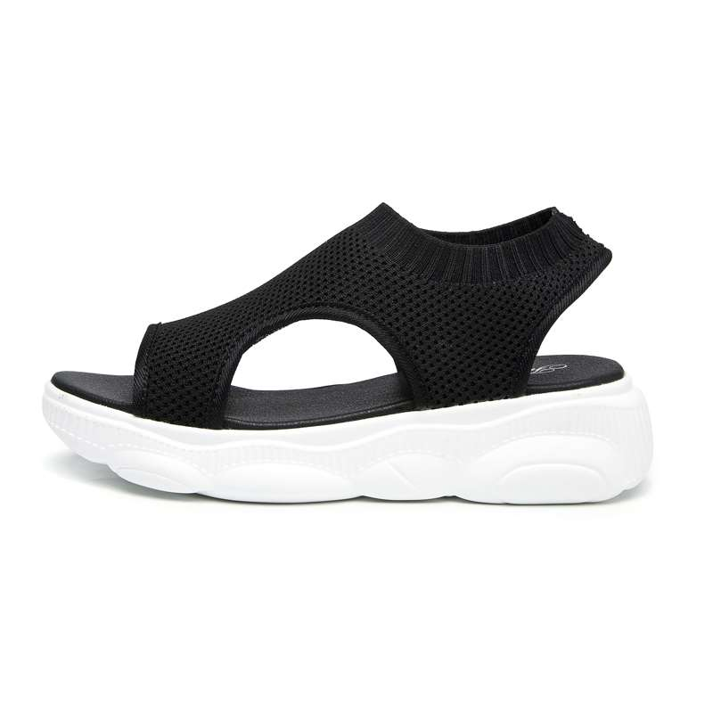 Special sandals for work look good and comfortable this years new high-end slope heel fashion summer single shoes muffin shoes princess style