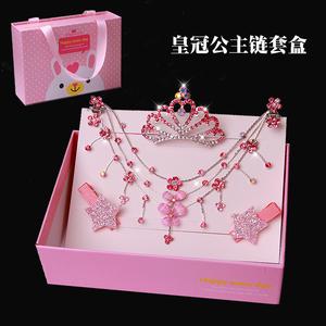 儿童皇冠公主链女孩水晶水钻额头链女童舞蹈演出表演发卡王冠