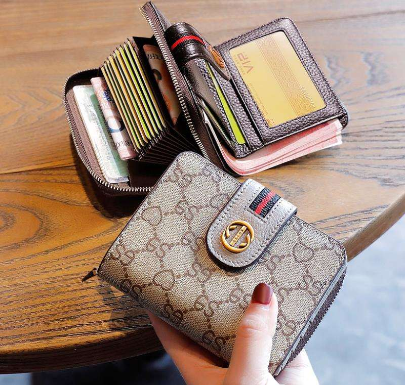 Card bag wallet two in one womens multi function 2020 new large capacity short folding multi card