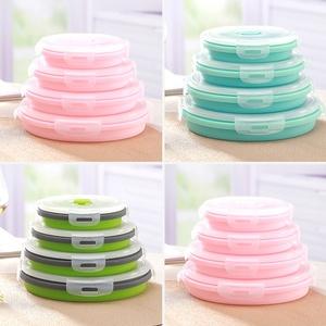 野炊野餐用品可折叠碗硅胶便携式餐具伸缩户外饭盒旅行水杯泡面碗