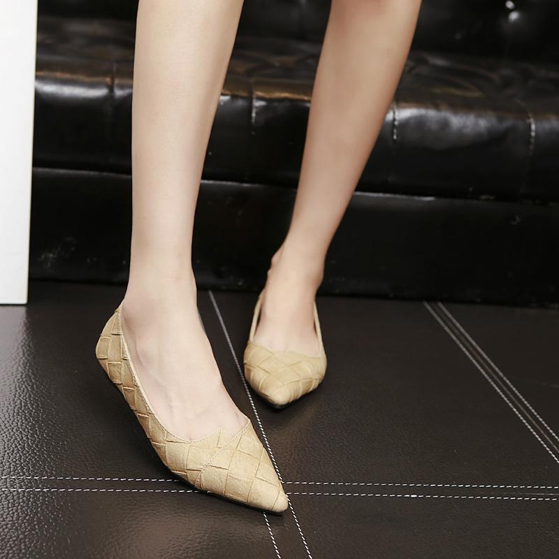 韩版百搭舒适女鞋2020春夏季新款软底瓢鞋尖头浅口单鞋软底船鞋女