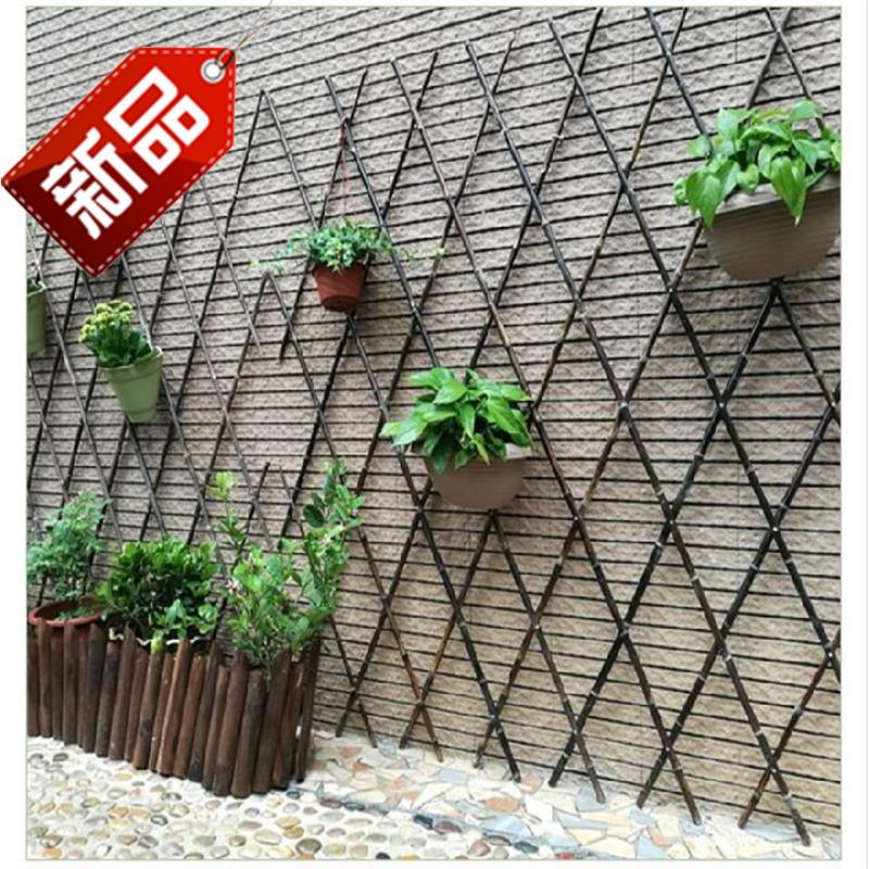 Bamboo fence fence fence stretch outdoor grid climbing vines flower climbing vine vegetable rack cucumber Teng flower trellis