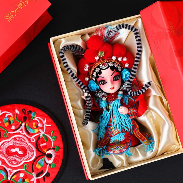 京剧人物脸谱摆件,北京纪念品,100元左右中国风特色礼物