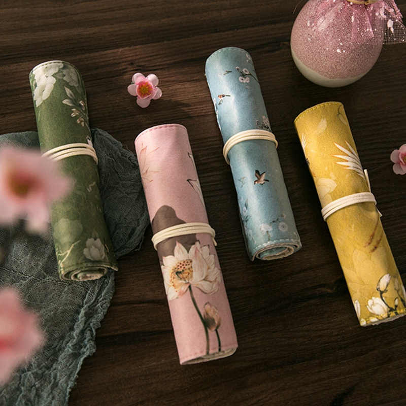 故宫文创文具教师节古风礼品收纳博物院笔袋复古帆布笔袋创意笔盒