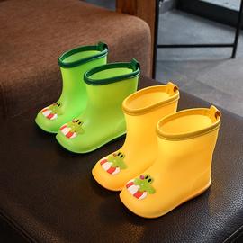儿童雨鞋男童1-3岁2可爱女宝宝雨靴雨衣套装小童防滑婴幼儿胶水鞋图片